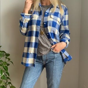 Madewell plaid shirt L large top